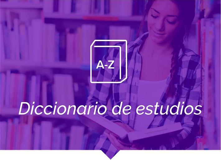 Diccionario de estudios